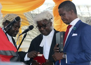 Edgar Lungu sworn into office as Zambia's new president