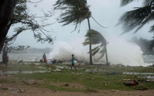 pacific, ocean, disaster, loss, human, livelihood, sea, lifes, deaths, epidemic, Cyclone PAM hits archipelago of Vanuatu
