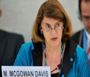 Mary McGowan Davis,UNHRC Gaza,US judge Mary McGowan Davis,United Nations Human Rights Council's,William Schabas,Palestine
