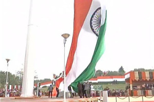 World's largest and tallest Indian flag unfurled in Faridabad, Haryana