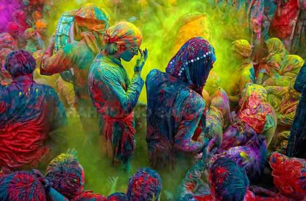 The festival of Holi is a religious festival. People sing bhajans of Radha and Lord Krishna on this day and it marks the