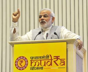 PM Narendra Modi launches MUDRA Bank to provide credit to small entrepreneurs