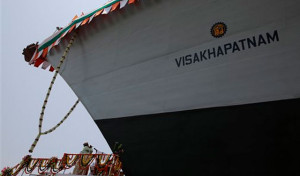 INS Visakhapatnam, stealth destroyer of Indian Navy launched