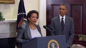 Loretta Lynch sworn-in as first black female Attorney General of US