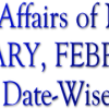 Current Affairs of JANUARY, FEBRUARY, MARCH  –  Date-wise  |  2015