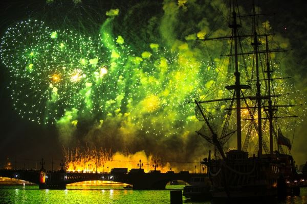 White Nights Festival, Scarlet Sails , St.Petersburg , Russia, Beliye Nochi, same latitude as Oslo, Norway, the southern tip of Greenland and Seward, Alaska,