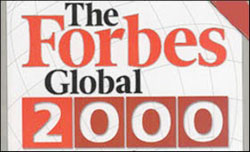 Forbes released Global 2000 Companies list