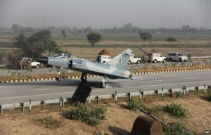 Mirage 2000 fighter jet landed on Yamuna Expressway as part of developing road runways