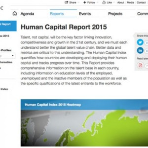 World Economic Forum (WEF) released The Human Capital Report 2015