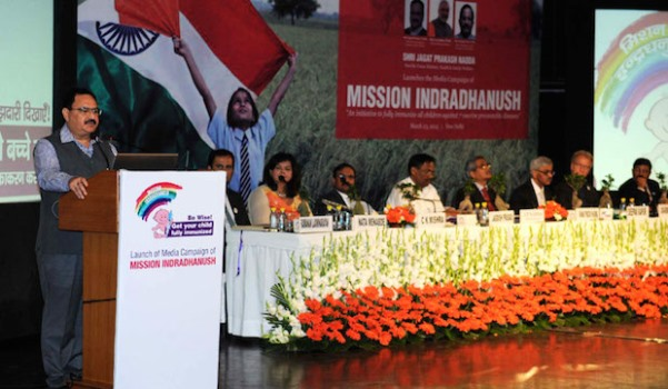 Mission Indradhanush Launched by Health & Family Welfare, Universal Immunization Programme,