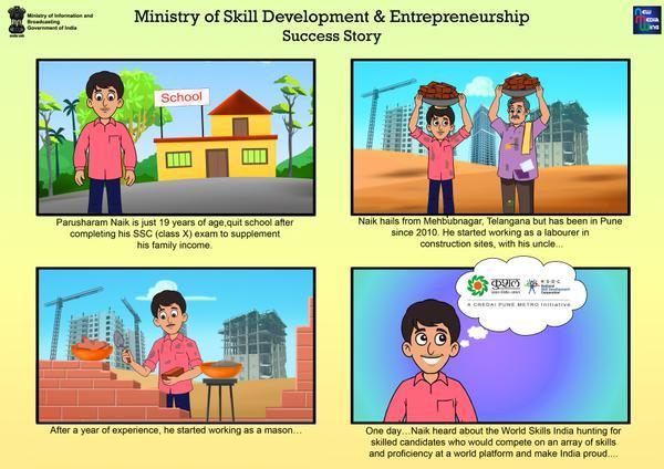 Pillars, Ministry of Skill Development And Entrepreneurship, Success story , PMKVY, DGE&T