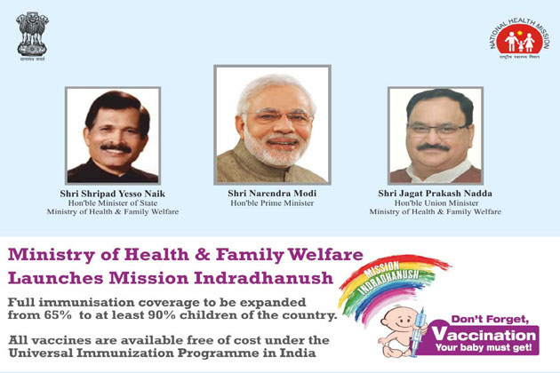 mission indradhanush ,  the mission aims at strengthening monitoring and evaluation mechanisms