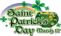 Saint Patrick's Day , 17th March, Ireland's patron saints,