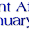 Current Affairs: 1st January 2015