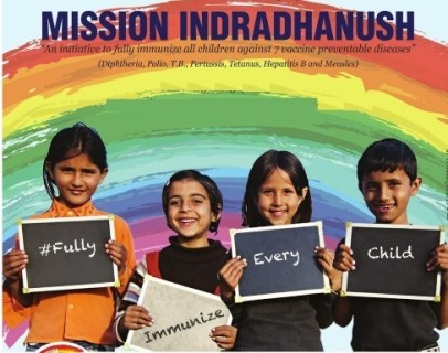 Mission Indradhanush Launched by Health & Family Welfare